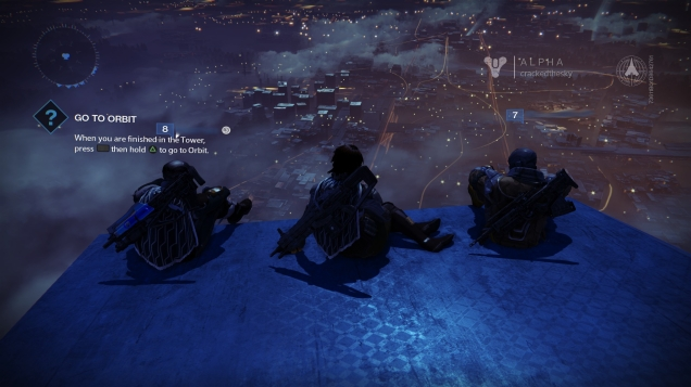 Enjoying a night at the Tower.
