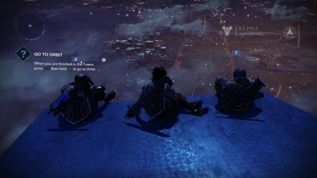 Enjoying a night at the Tower.